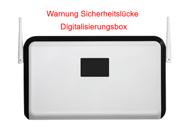 Warnung – Digitalisierungsbox