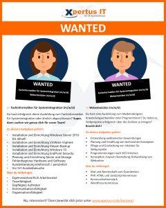 Wanted - Wir suchen Dich!
