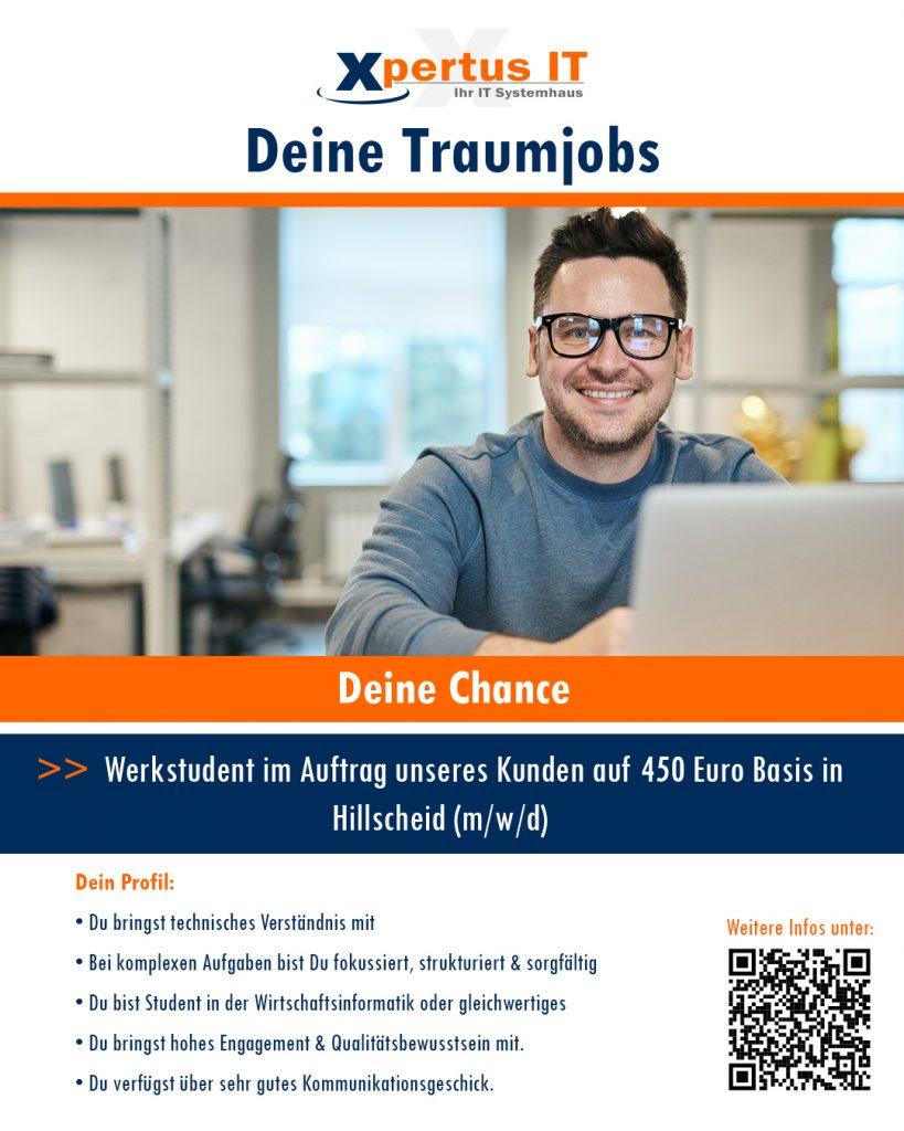 Deine Chance: Werkstudent (m/w/d)