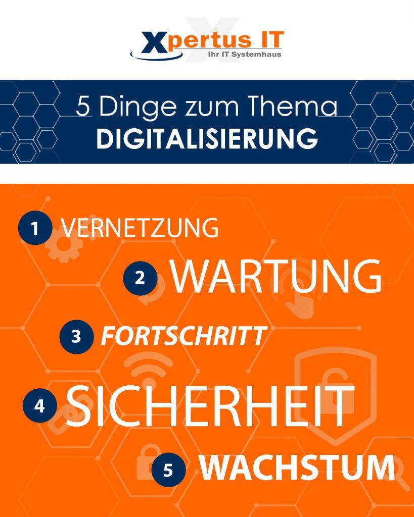 5 Dinge zum Thema Digitalisierung