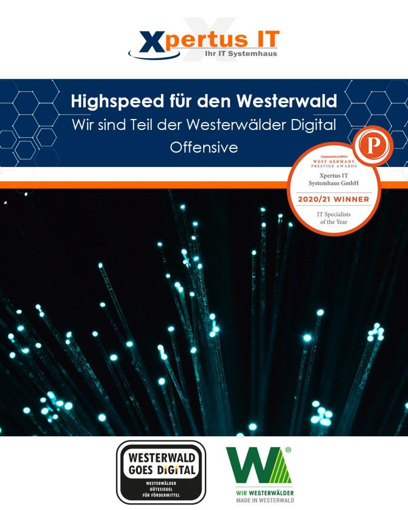 Glasfaser – wir sind Teil der Westerwälder Digital Offensive
